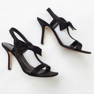 {Host Pick} Kate Spade black Satin Heels